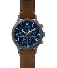 Timex TW4B09000 Mens expeditie bruin lederen band horloge