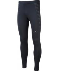 Ronhill RH-001857R009-XL Mens vooraf allemaal zwart lopen stretch panty - maat XL