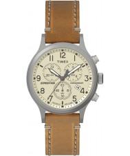 Timex TW4B09200 Mens expeditie bruin lederen band horloge
