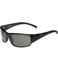 Bolle Keelback glanzende zwarte gepolariseerde tns zonnebril
