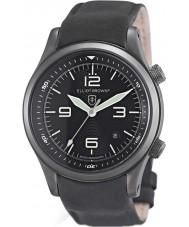 Elliot Brown 202-004-R06 Mens canford mat zwart lederen band horloge