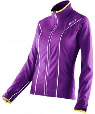 2XU WR2161A-PLQ-EYW-XS Dames elite paarse lak en blinken gele run jacket - XS