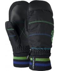 Barts Kids city zwart groen print mittens