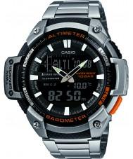 Casio SGW-450HD-1BER Mens kern zilver hoogtemeter en barometer combi horloge