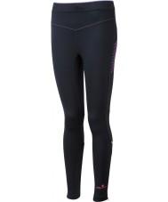 Ronhill RH-001901R292-16 Womens Vizion zwarte fluo roze stretch panty - Maat EU 16 (xl)