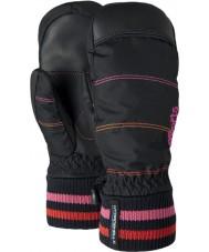 Barts Kids city black pink print mittens