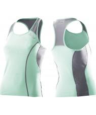 2XU Dames actieve groene mist Tri Singlet