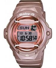 Casio BG-169G-4ER Ladies Baby-G Telememo wereldtijd roze hars Strap Watch