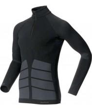 Odlo 180982-15000-S Mens evolutie black turtle zip hals - maat S