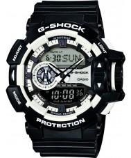 Casio GA-400-1AER Mens g-schok wit zwart chronograafhorloge