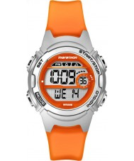 Timex TW5K96800 Ladies marathon mid size oranje hars chronograaf Strap Watch