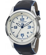 Elliot Brown 202-001-L06 Mens Canford blauw lederen band horloge