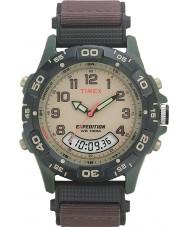 Timex T45181 Mens crème bruin expeditie combo horloge