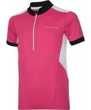 Dare2b DKT018-1Z0034 Kids Hotfoot elektrische roze trui t-shirt - 34 inch