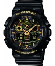 Casio GA-100CF-1A9ER Mens g-schok zwarte chronograaf horloge