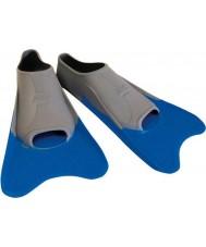 Zoggs 300395 Ultra blauw en grijs training vinnen - uk maat 12