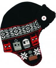 Dare2b DBC006-800C12 Jongens zwarte Avert ski hoed
