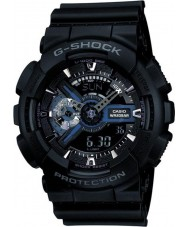 Casio GA-110-1BER Mens G-SHOCK zwarte combi wereld tijd horloge