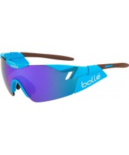 Bolle 6e zintuig ag2r glanzend bruine blauw-violet zonnebril
