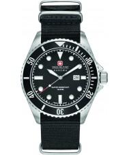 Swiss Military 6-4279-04-007-07 Mens zeeleeuw zwarte nylon band horloge