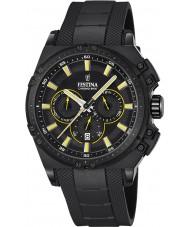 Festina F16971-3 Mens chrono fiets zwart rubber chronograafhorloge