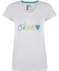 Dare2b DWT319-90010L Ladies één liefde wit t-shirt - maat uk 10 (s)