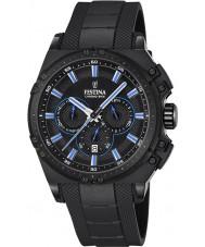 Festina F16971-2 Mens chrono fiets zwart rubber chronograafhorloge