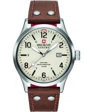 Swiss Military 6-4280-04-002-05 Mens undercover bruine lederen band horloge