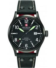 Swiss Military 6-4280-13-007-07 Mens undercover zwart lederen band horloge