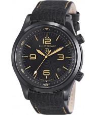 Elliot Brown 202-008-L11 Mens Canford zwart lederen band horloge