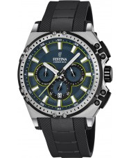 Festina F16970-3 Mens chrono fiets zwart rubber chronograafhorloge