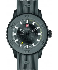 Swiss Military 6-4281-27-007-30 Mens schemering grijze siliconen band horloge