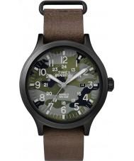 Timex TW4B06600 Mens scout bruine lederen band horloge