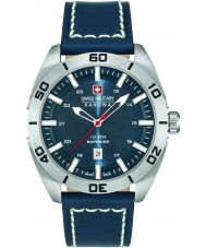 Swiss Military 6-4282-04-003 Mens champ blauw lederen band horloge