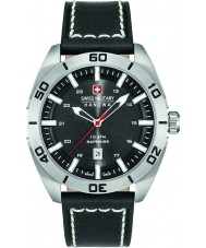 Swiss Military 6-4282-04-007 Mens champ zwart lederen band horloge