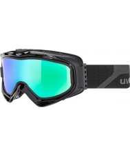 Uvex 5502132126 G.gl 300 opstijgen matzwart - groene spiegel ski-bril met rook blauwe vervangende lens