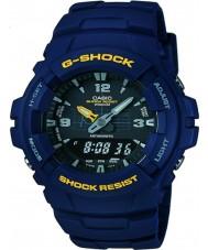 Casio G-100-2BVMUR Mens G-shock blue hars Strap Watch