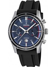 Festina F16874-G Mens Tour of Britain 2015 blauw zwart chronograafhorloge