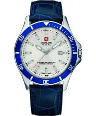 Swiss Military 6-4161-2-04-001-03 Mens vlaggenschip blauw lederen band horloge
