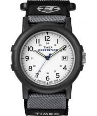 Timex T49713 Mens wit zwart camper expeditie horloge