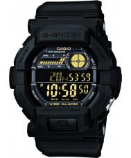 Casio GD-350-1BER Mens G-SHOCK wereld tijd zwarte horloge