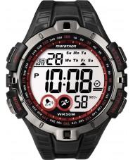 Timex T5K423 Mens rood zwart marathon sport horloge