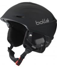 Bolle 31186 Scherpe zwarte digitalism skihelm - 54-58cm