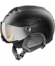 Uvex 5661622205 Hlmt 300 zwarte skihelm met lasergold vizier - 55-58cm