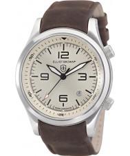 Elliot Brown 202-003-L08 Mens canford chocolade bruine lederen band horloge