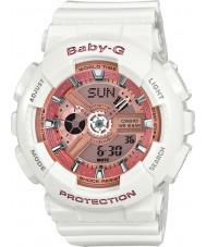 Casio BA-110-7A1ER Ladies Baby-G wereldtijd witte hars Strap Watch