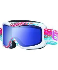 Bolle 20940 Monarch witte diamant - aurora blauw skibril