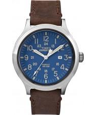 Timex TW4B06400 Mens expeditie scout bruine lederen band horloge
