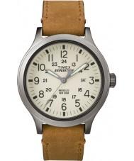 Timex TW4B06500 Mens expeditie scout bruin lederen band horloge