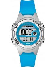 Timex TW5K96900 Ladies marathon mid size blauwe hars riem chronograafhorloge